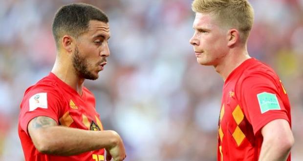 Эден Азар (слева) и Кевин де Брюйне, Getty Images