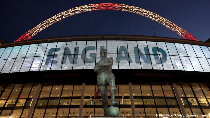 Стадион Уэмбли в Лондоне, на котором 11 июля пройдет финал Евро-2020
