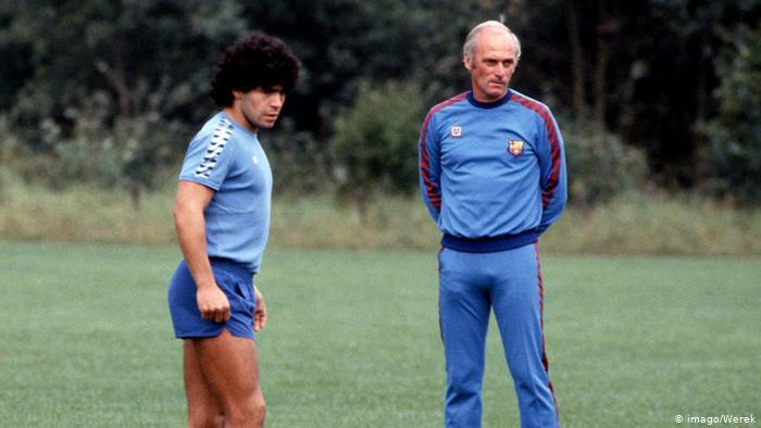 Удо Латек и Диего Марадона, 1982 год