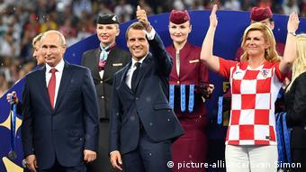 Президенты России и Франции на ЧМ-2018