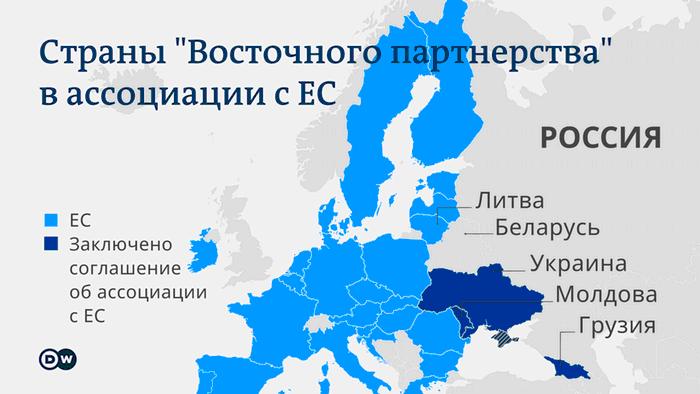 Инфографика - страны Восточного партнерства в ассоциации с ЕС