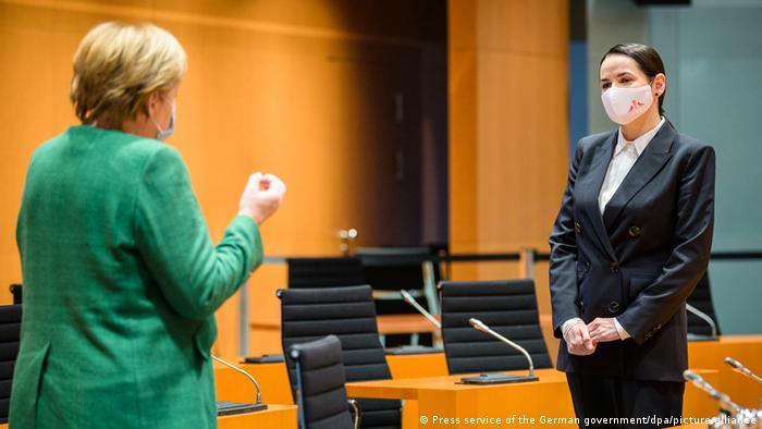 Тихановская на встрече с Меркель
