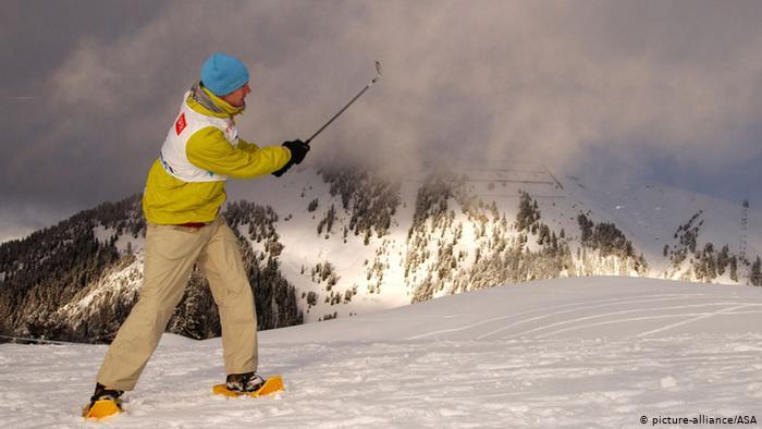 Гольф в снегу