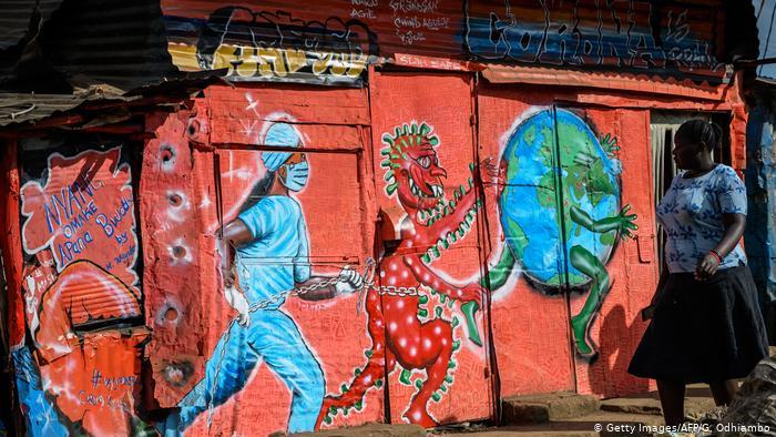 Граффити о коронавирусе в Кении