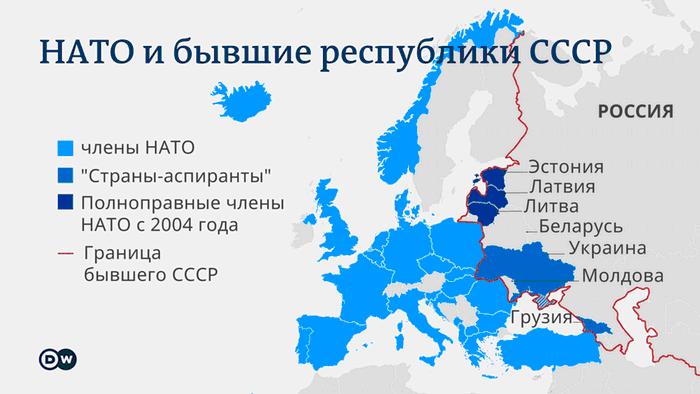 Инфографика - НАТО и бывшие республики СССР
