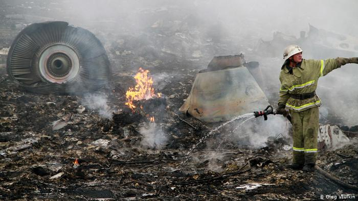 На месте крушения малайзийского самолета