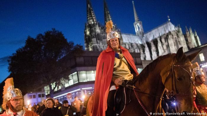 Празднование Дня святого Мартина в Кельне
