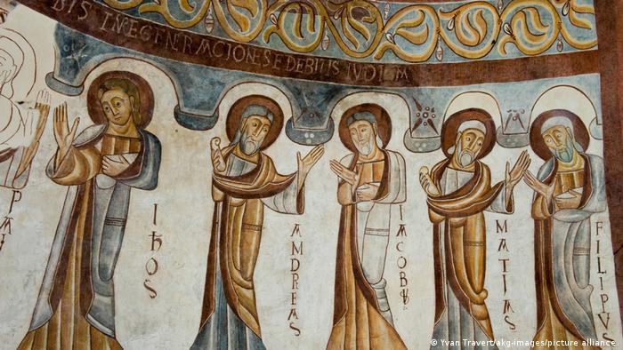 Фреска из храма Стефана Первомученика (Église Saint-Étienne de Montcherand) в швейцарском кантоне Во