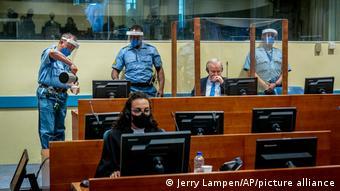 Заседание Международного уголовного суда в Гааге на апелляционном процессе боснийско-сербского генерала Ратко Младича, 8 июня 2021 года