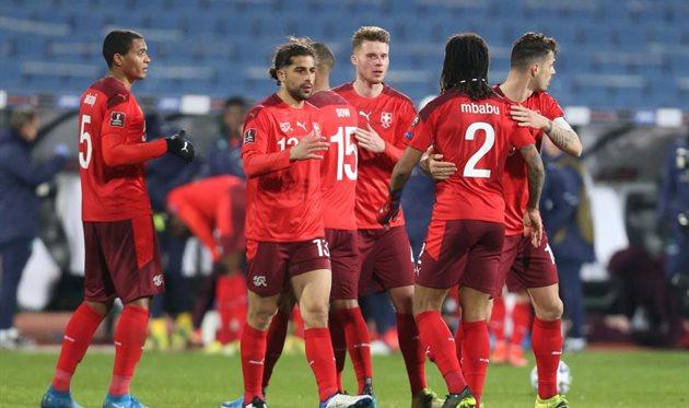 Игроки сборной Швейцарии, getty images