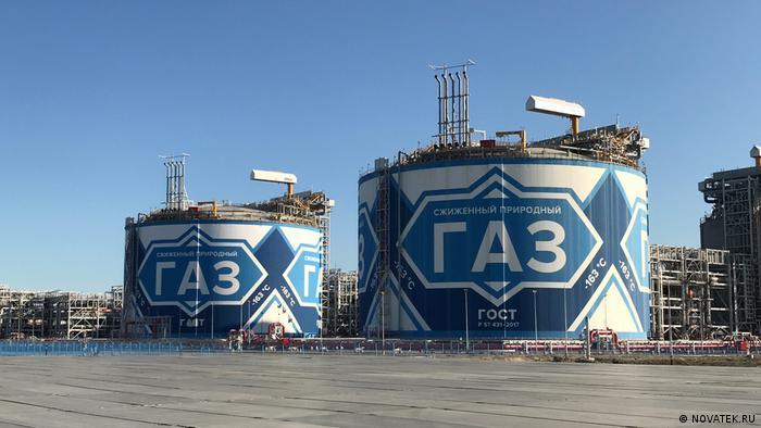 Резервуары для СПГ на предприятии Ямал СПГ компании Новатэк