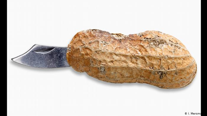 Нож в скорлупе арахиса
