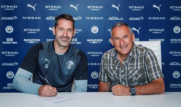 Скотт Карсон (слева), ФК Манчестер Сити
