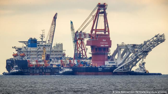 Российское судно-трубоукладчик Фортуна