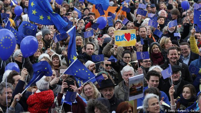 Митинг движения Pulse of Europe