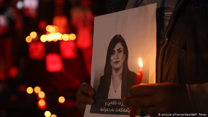 Журналистка курдского телеканала Рудав (Rudaw) Шифа Гарди