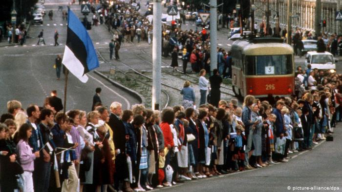 Акция Балтийский путь в Таллине, 23 августа 1989 г.