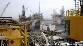 Добыча нефти и газа в Северном море у берегов Норвегии