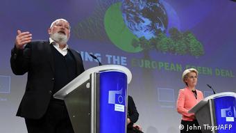 Брюссель, июль 2021. Глава Еврокомиссии Урсула фон дер Ляйен и ее зам Франс Тиммерманс говорят о целях Green Deal